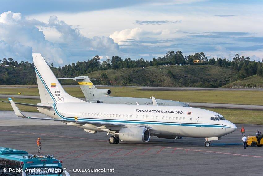Boeing 737BBJ FAC0001 durante la F-AIR Colombia 2019.
