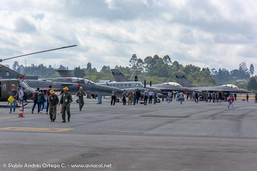 Exhibición estática durante la F-AIR Colombia 2019.