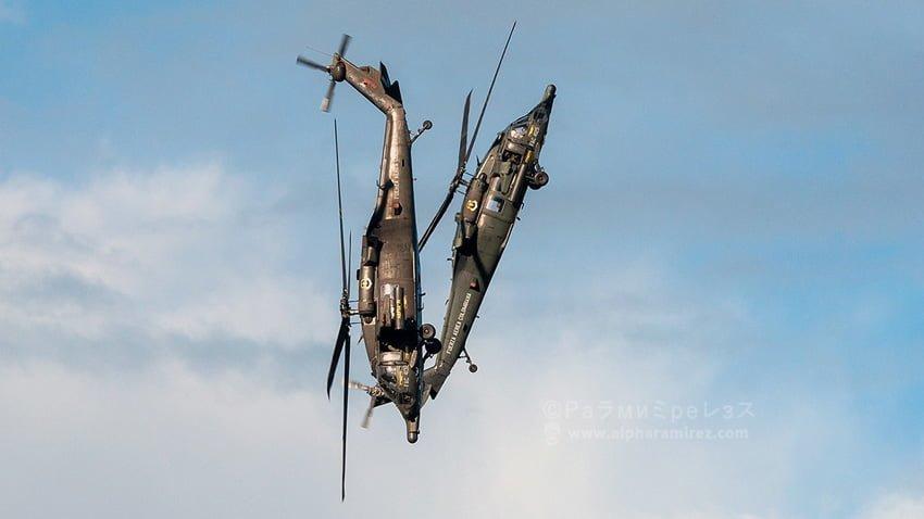 Helicópteros Blackhawk de la FAC durante F-AIR Colombia 2019.