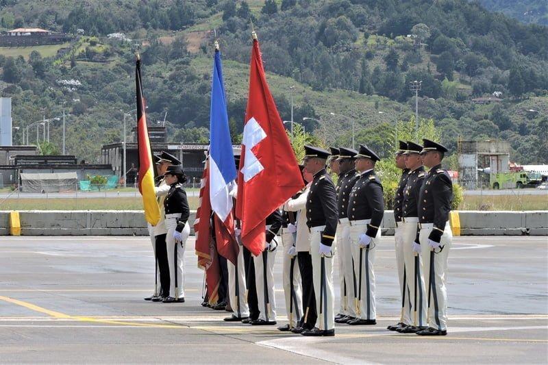 Ceremonia de celebración de los 100 años de la Fuerza Aérea Colombiana.
