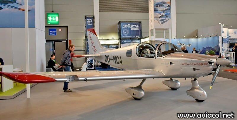 El primer avión entregado a la escuela Air Academy New CAG, OO-NCA, visto en la feria AERO Friedrichshafen en abril de 2019.