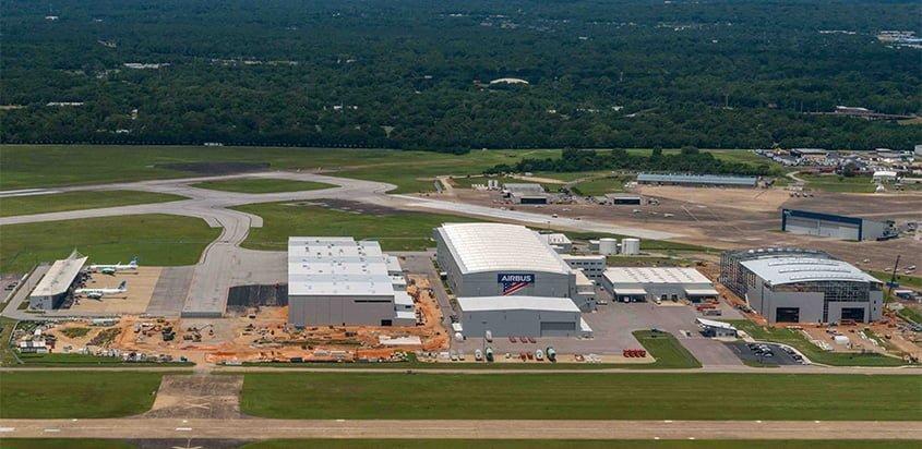 Planta de Airbus en Mobile, Alabama.