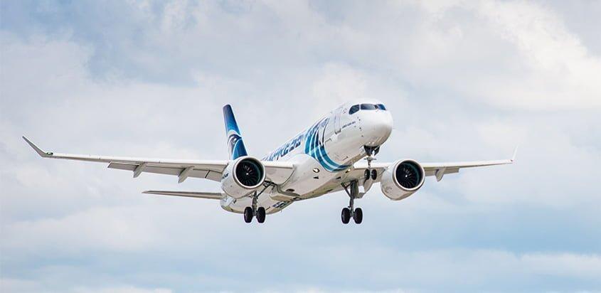 Airbus A220 de EgyptAir.