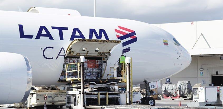 Boeing 767-300 de LATAM Cargo en Miami.
