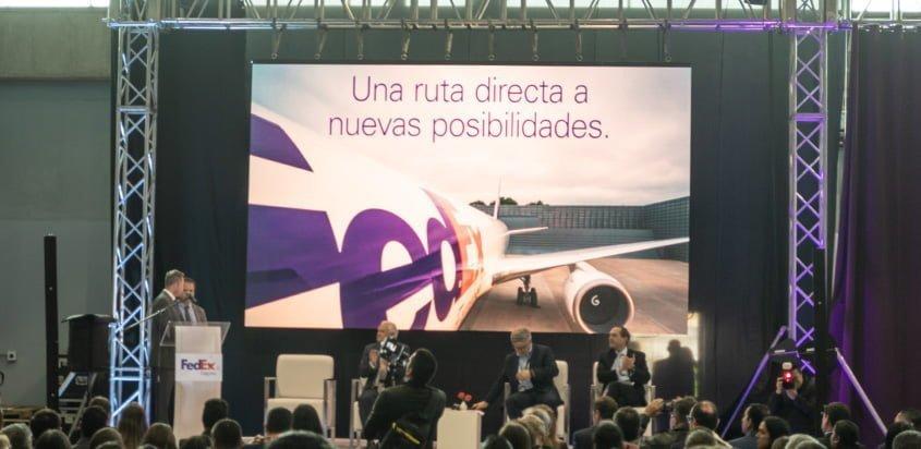 Presentación de la nueva ruta de FedEx.
