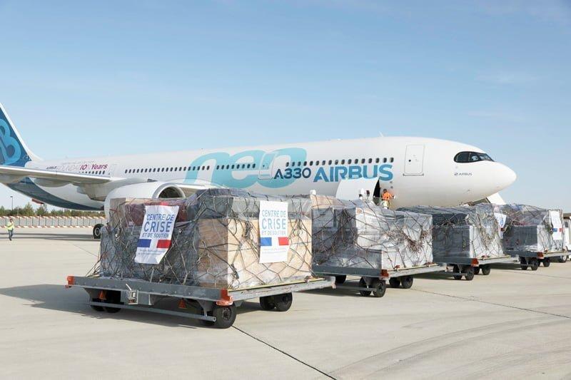 Airbus A330neo en Bolivia transportando a bomberos para los incendios en el Amazonas.