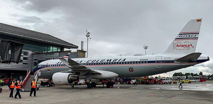 Airbus A320 de Avianca con pintura retro.