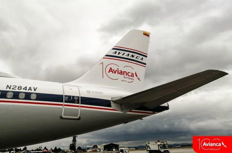 Airbus A320 de Avianca con pintura retro de los años 50.