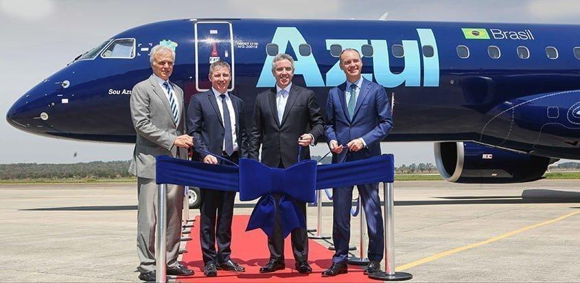 Primer Embraer 195-E2 de Azul.