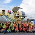 Boeing 767-300F de LATAM Cargo transportando ayuda humanitaria a Bahamas.
