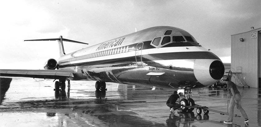 McDonnell Douglas MD-80 de American Airlines.