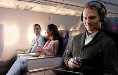 Servicio a bordo de Delta Air Lines.