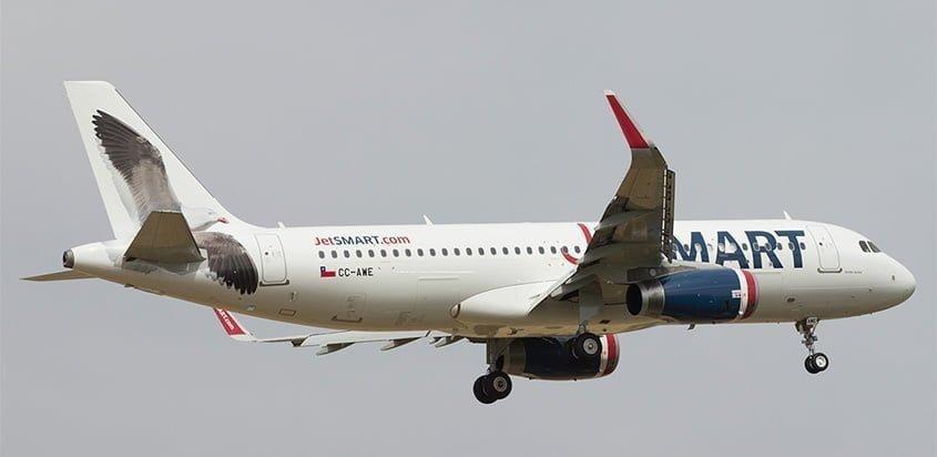 Airbus A320 de JetSmart en vuelo.
