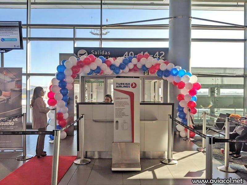 Bienvenida al primer vuelo en Boeing 787 de Turkish Airlines a Bogotá.