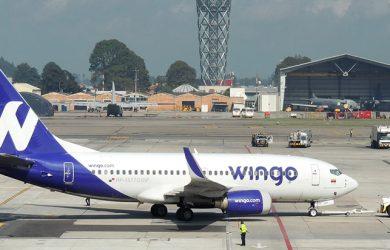 Boeing 737-700 de Wingo en el Aeropuerto Eldorado de Bogotá.