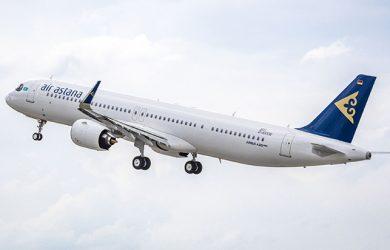 Primer Airbus A321LR de Air Astana.