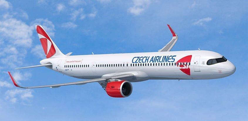 Airbus A321XLR de Czech Airlines.
