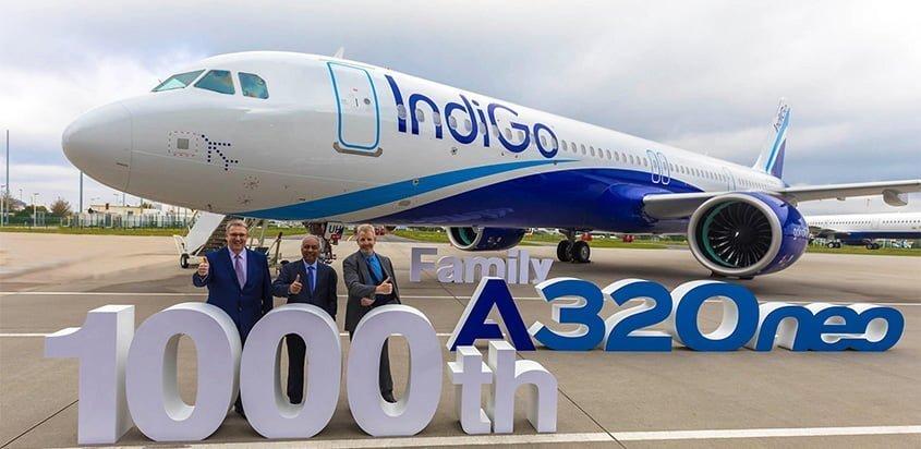 Airbus A320neo 1000 de IndiGo.