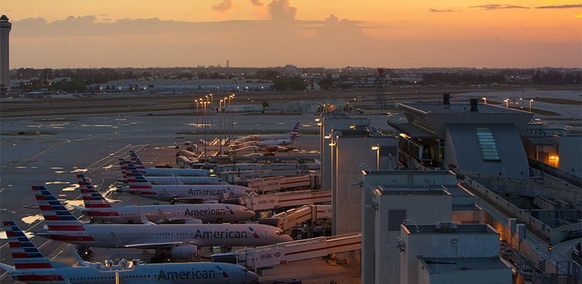 HUB de American Airlines en Miami.