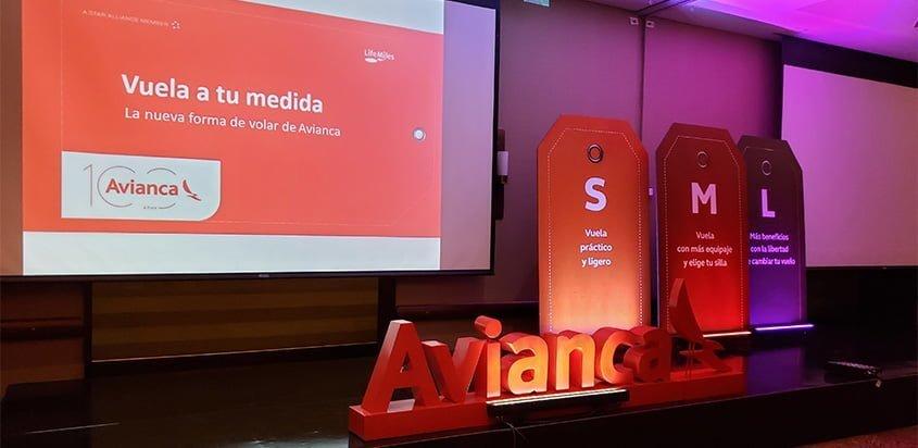 Presentación de las nuevas tarifas de Avianca en Colombia.