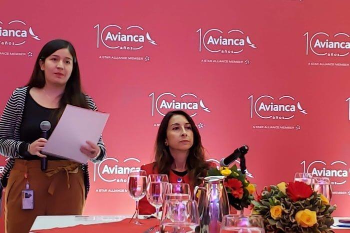 Silvia Mosquera, Chief Commercial Officer de Avianca en la presentación del nuevo modelo de tarifas.
