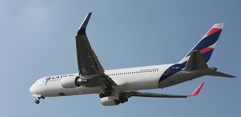 Boeing 767-300ER de LATAM Airlines.