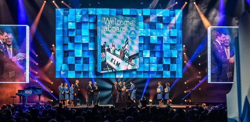 Celebración del centenario de KLM.