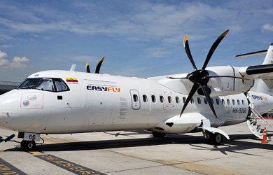 ATR 42 de EasyFly en el TPA de Bogotá.