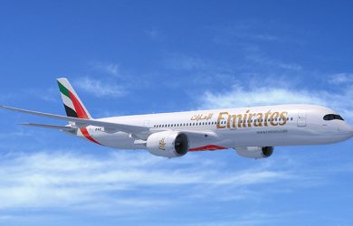 Prototipo de un Airbus A350 de Emirates.