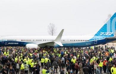 Boeing 737 MAX 10 en su presentación oficial.