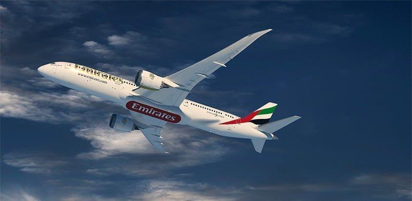 Prototipo de un Boeing 787-9 de Emirates.