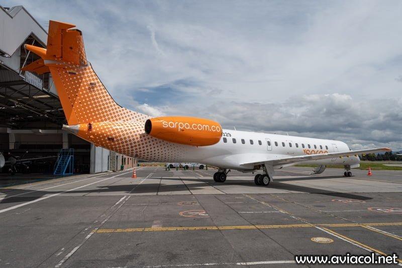 Embraer 145 de SARPA en el Aeropuerto Eldorado de Bogotá.