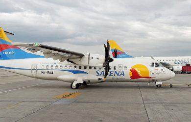 ATR 42-600 de SATENA en el Aeropuerto Eldorado de Bogotá.