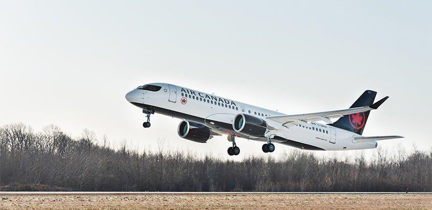 Primer Airbus A220-300 de Air Canada.