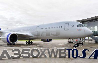 Airbus A350 de Scandinavian Airlines.