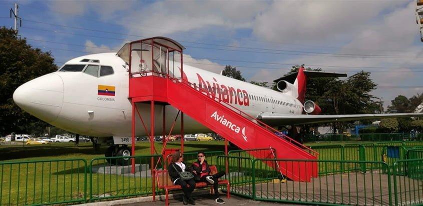 Boeing 727 de Avianca el el Parque Salitre Mágico de Bogotá.