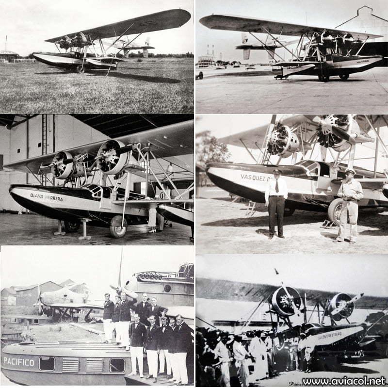 Flota de aviones de SCADTA.