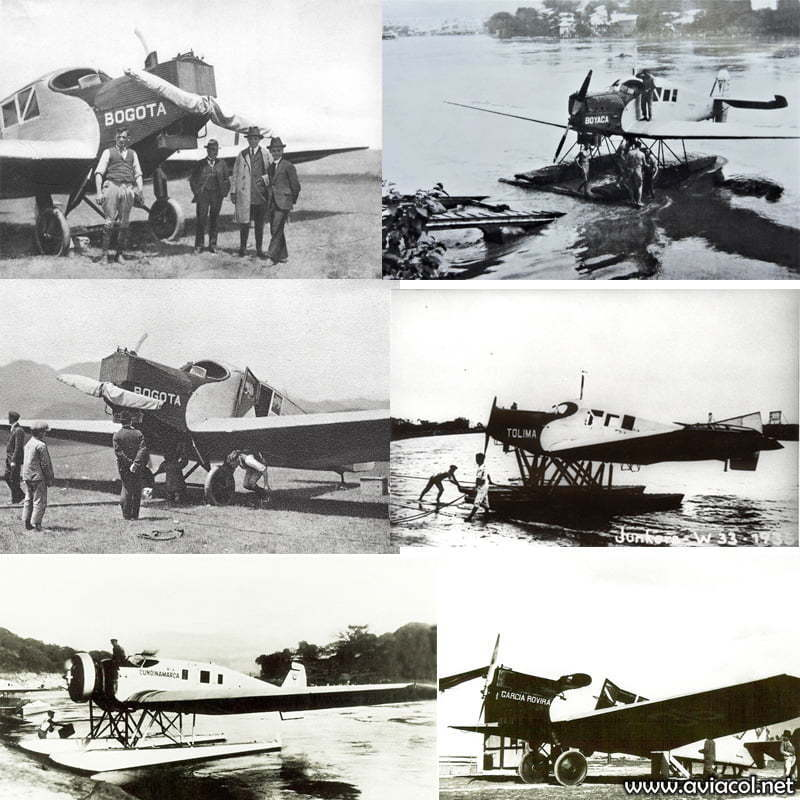Flota de aviones Junkers F-13 de SCADTA.