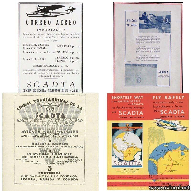 Publicidad de SCADTA.