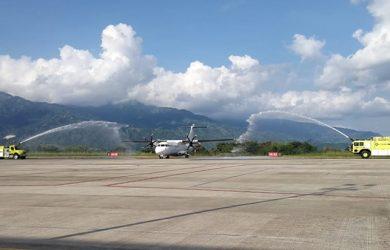 Bautizo del vuelo inaugural de EasyFly entre Cartagena e Ibagué.