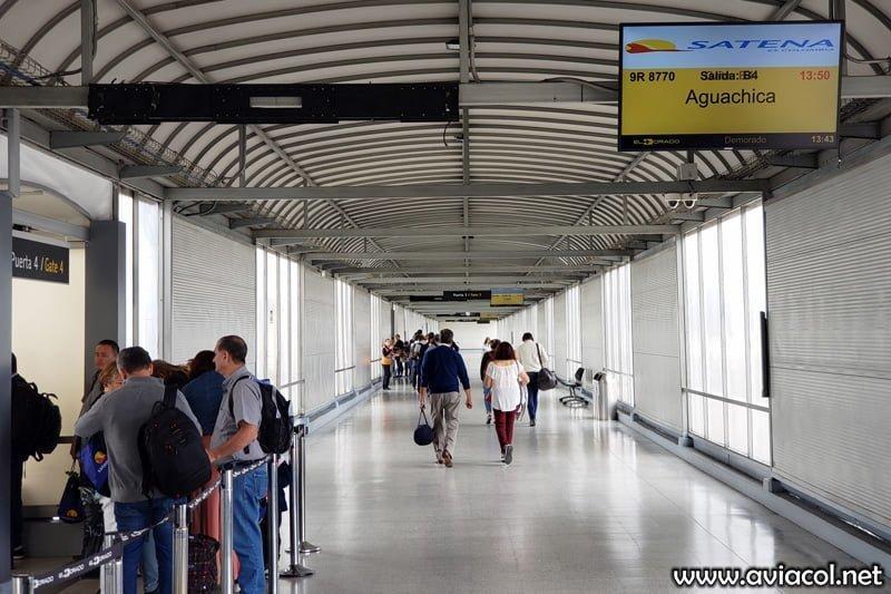 Sala de Embarque de Satena en el Puente Aéreo de Bogotá.
