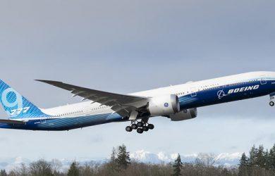 Primer vuelo del Boeing 777X.