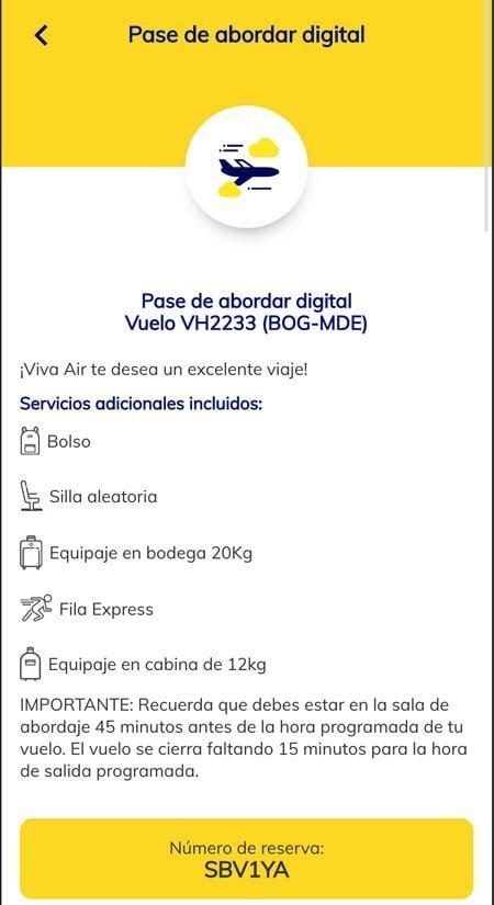 Pasabordo digital de Viva Air paso a paso.
