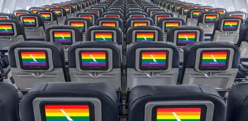 Interior de un Boeing 777 de American Airlines.