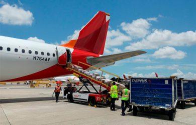 Transporte de carga de Deprisa a San Andrés.
