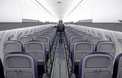 Sillas de un ATR72-600 de EasyFly.