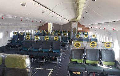 Boeing 777-300 de LATAM reconfigurado para carga.