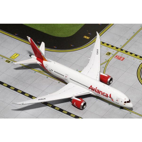 Modelo a escala 1:400 de un Boeing 787-8 de Avianca.