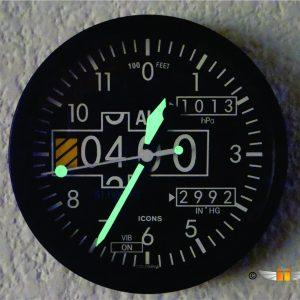 Reloj Altrímetro Pared