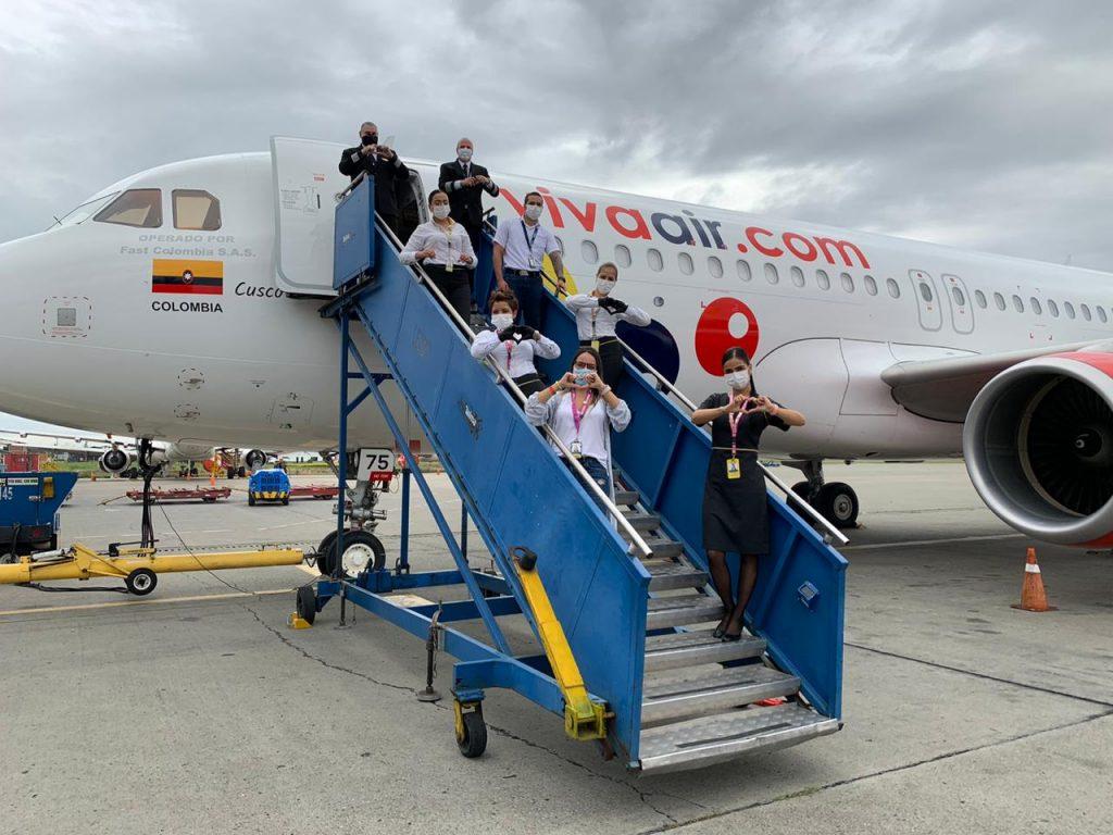 Transporte de carga humanitaria a La Guajira de Viva Air.